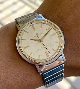 Vintage Eterna Matic Centenaire 61 Automatic Watch 35mm Stainless Steel SERVICED