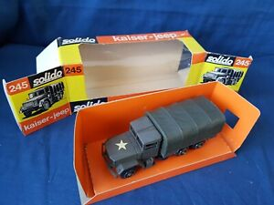 SOLIDO 245 U.S. M34 6X6 COVERED KAISER JEEP 2.5 TON. 1/50TH EXCELLENT BOXED