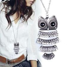 Womens Fashion Vintage Style Sweater Owl Long Chain Necklace Pendant Jewelry TR