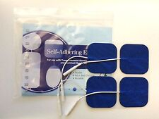 60 TENS Electrodes BLUE CLOTH 2x2 inch Replacement Pads for Twin Stim EMS 7500