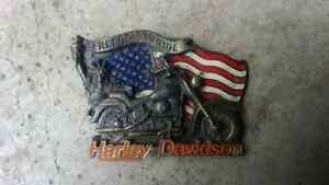 Harley Davidson Buckle Gürtelschnalle original HD 1991 Baron USA