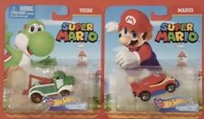 **  YOSHI & MARIO **   Super Mario   Hot Wheels   CHARACTER CARS! MINTY FRESH!!
