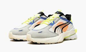 Puma Men's Pwrframe Op-1 Abstract Shoes Nimbus Cloud/Yellow/White 382649-02 f