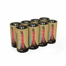 Tenergy 8PCS 3.7V RCR123A Li-ion Rechargeable Batteries for Arlo Security Camera
