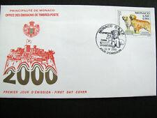 Enveloppe 1er Jour  MONACO O.E.T.P  2000 Exposition Canine Internationale