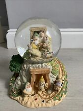 More details for snow globe lenox snow white and the 7 dwarfs 'whistle while you work'