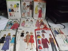 More details for 10 vintage girl/child dress making sewing patterns - all used