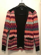 MARC BY MARC JACOBS SILK/COTTON BLEND COLOR BLOCK SWEATER CARDIGAN M