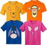Winnie the Pooh Halloween faces Birthday Halloween Christmas family T-Shirts