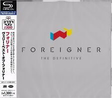 FOREIGNER THE DEFINITIVE COLLECTION 2017 JAPAN RMST SHM CD - NEW & GIFT QUALITY!