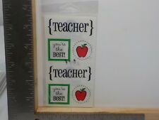SRM STICKERS TEACHER APPLE YOU'RE THE BEST CLASSIC STICKERS A11235