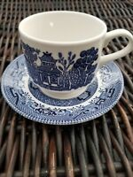 Churchill Willow Cup and Saucer Set England Glossy Mint Condition 5 avail