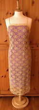 DOROTHY PERKINS size UK 14 long midi strappy prom party dress ~ lace & sequins