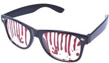 Nouveau halloween horreur noir sanglante lunettes taches rouges accessoire robe fantaisie