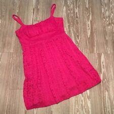 B. Smart Women's 12 Pink Lace Overlay Dress Empire Waist Adjustable Straps
