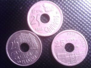 SPAIN    25   PESETAS      1993    1994    1996    JUL29