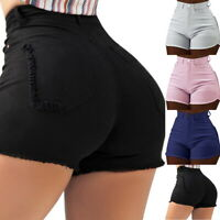 Eté Femmes Pantalons Court en Jean Décontracté Slim Fitness Poches Jeans Shorts