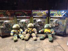 TMNT Teenage Mutant Ninja Turtle Lot- 3 1995 Plush, 4 2005 Combat Warrior