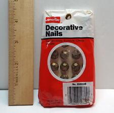 Vintage AmerTac Decorative Hammered Antique Brass Finish Upholstery Nails 259Hab