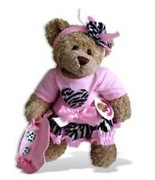 Teddy Bear Clothes fits Build a Bear Teddies Outfit Pink Zebra Pattern + Hat