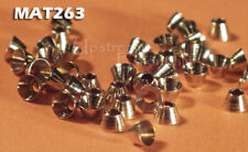 """Brass Tapered Cone Heads for Fly Tying GOLD- 7/64"""" 3mm 50 pkg MAT263"""