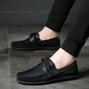 Mens Flats Shoes Round Toe Breathable Walking Comfortable Loafers Driving Shoes