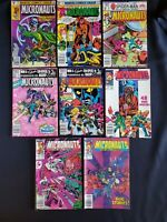 MICRONAUTS LOT 26 34 35 (1ST DEATH SQUAD) 36 37 57 AND NEW VOYAGES 4 6 MOVIE KEY