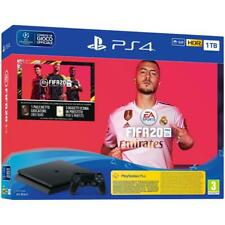 PS4 1TB SLIM BLACK F CHASSIS + FIFA 20 PS4 - HDR - OFFERTA !!!