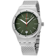 Swatch Irony Sistem Kaki Green Dial Stainless Steel Men's Watch YIS407GA