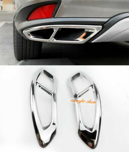 Fit for 2020 2021 Lexus RX 350 Stainless Steel Rear Tail Exhaust Frame Trim 2PCS
