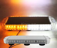 """New Rooftop 40 LED Car Truck 22"""" Warning Emergency Strobe Light Bar Amber/White"""