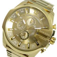 Diesel DZ4360 Herren-Armbanduhr MEGA CHIEF Edelstahl vergoldet Chrono Datum NEU
