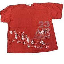Air Jordan Flight T Shirt Adult XL 2XL Red Michael Jordan Nike Basketball 23