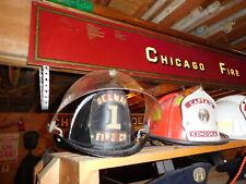 VINTAGE CAIRNS ALUMINUM FIRE HELMET-DELMARE FIRE CO. 1-MUST SEE!