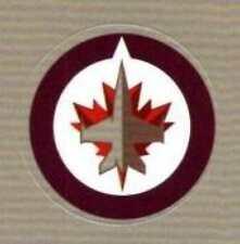 "(HCW) Winnipeg Jets Lot of 10 NHL Logo Stickers - 1"" Round x 10"