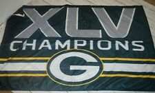 New listing Nwot Green Bay Packers Super Bowl Xlv Champions 3' x 5' Deluxe Flag Banner