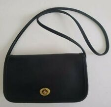 Vintage Coach Small Black Leather Crossbody