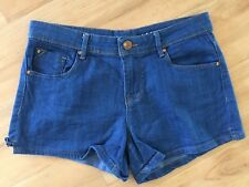 Ladies COTTON ON Denim Shorts Size 10 Blue Classic Mid Rise Short
