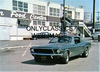 1968 STEVE McQUEEN AS BULLITT FORD MUSTANG GT 390 V8 5X7 MOVIE PHOTO AUTOMOBILIA