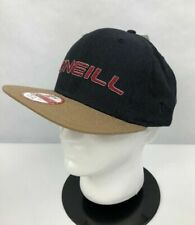 O'Neill Mens New Era Snapback Cap Hat Navy Blue Beige One Size