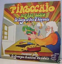 33T LA LIBELLULE LP PINOCCHIO - Le CHAT BOTTE - LOUT ET 7 BIQUETS Théâtr VAUDOIS