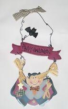 NeW Handmade Smiling VAMPIRE Wood Wall Door SIGN w/Bat
