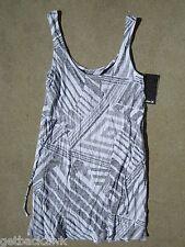 NEW* HURLEY SURF MINI SUN DRESS S $40 Retail Stripes Black White