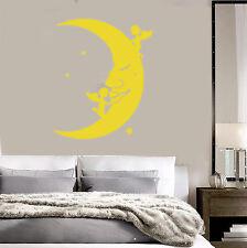 Vinyl Wall Decal Moon Stars Angels Dreams Stickers Bedroom Mural (ig3729)