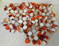 7587m 100 Mixed Company Patch Marbles Vintage Group or Bulk Lot