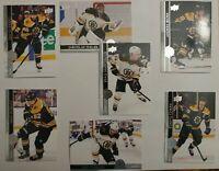 2020-21 Upper Deck Series 2 Base Team Set BOS Bruins Marchand DeBrusk Halak