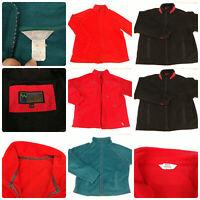 Lot 4 Womens Size Large Fleece Jackets Full Zip Up Red Green Black Winter Fall