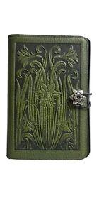 """Oberon Design Vintage Leather Gren  Rose Journal cover 6""""x9"""""""