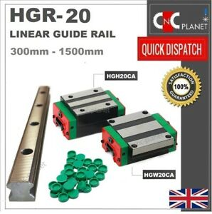 HGR SERIES 20mm LINEAR BEARING GUIDE SLIDE RAIL CARRIAGE BLOCK HGW20CA HGH20CA