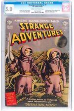 Strange Adventures #1 CGC 5.0 DC 1950 Golden/Silver Age Classic! H3 107 cm clean